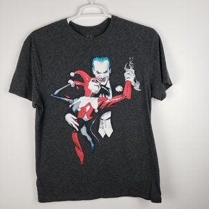 Batman Joker Men's Gray Tee Shirt Sz XL